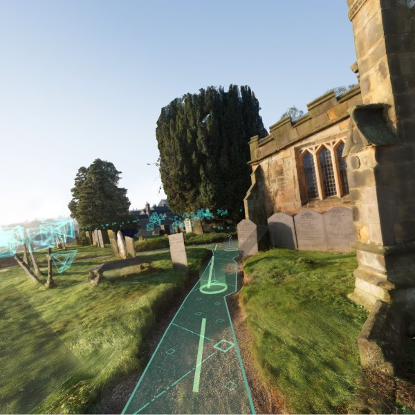 Teleportándome alrededor de una abadía inglesa